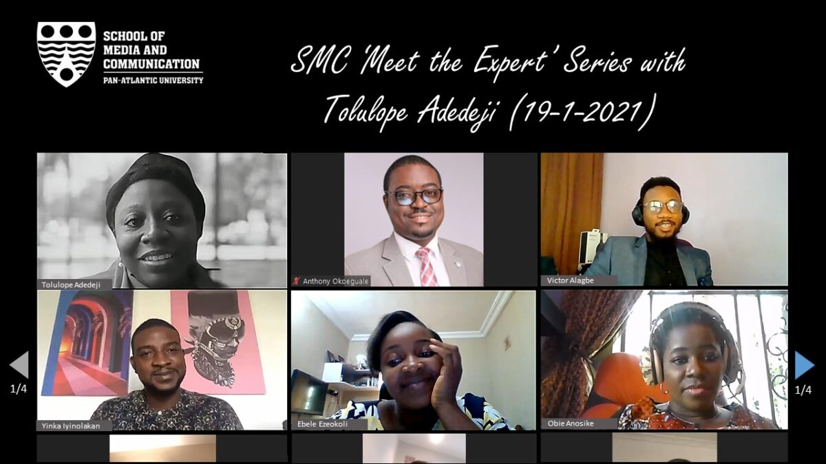 'MEET THE EXPERT' SERIES WITH TOLULOPE ADEDEJI