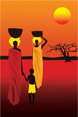 lgpp31394+african-savannah-women-african-savannah-art-poster